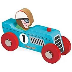 Janod - Story Racing Retromotor, coche de madera (J08549)