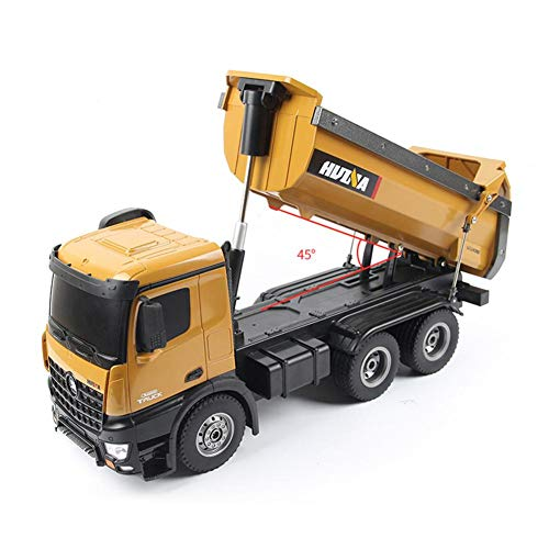 RC Camion Télécommandé 1:14 10WD Complet Fonctionnel Jouet De Construction De Camion À Benne Basculante, Charge Maximale 5KG