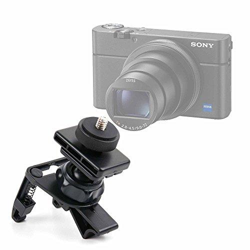 Duragadget supporto griglia ventilazione auto per fotocamera sony rx100 vi/dsc-rx100m6, kodak pixpro fz152 friendly zoom - regolabile - alta qualità