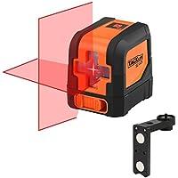Tacklife SC-L01 Classique Niveau Laser Croix 15m/Laser Horizontal et Verticale/Grand Angle de 110°/Verrouillable/Laser Rouge et Brillant/Support Magnétique Rectangulaire