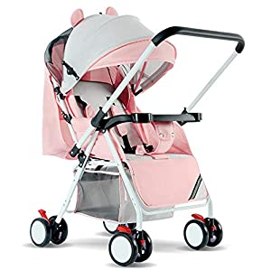 Compact Travel Buggy, Reversible Folding Pushchair with Five-Point Harness, Lightweight Buggy Stroller with Adjustable Backrest, from Birth to 15KG   14