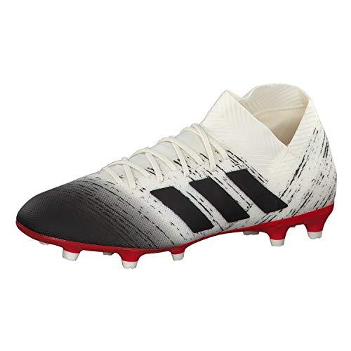 adidas Herren Nemeziz 18.3 FG Fußballschuhe, Weiß (Off White/Core Black/Active Red), 42 EU