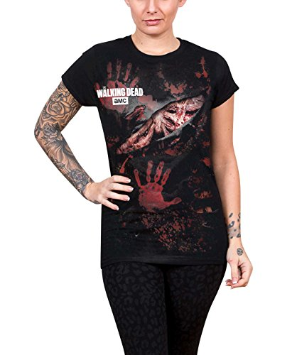 The Walking Dead T Shirt Blood Hand Prints -