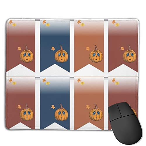 Halloween Flags Mouse Mat Desk Pad with Non-Slip Rubber Base 18x22cm