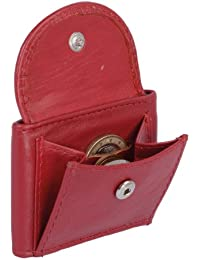 Extra kleine Minibörse LEAS in Echt-Leder, rot - ''LEAS Mini-Edition''