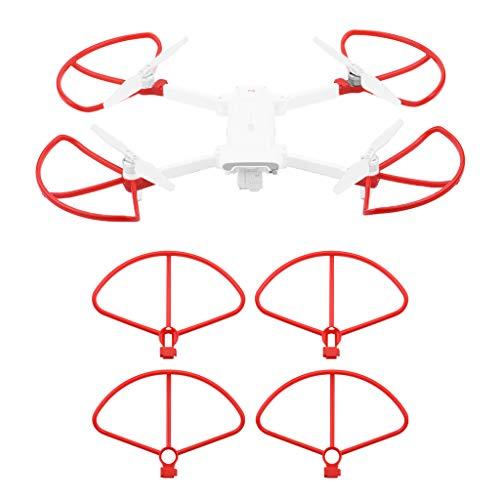 Uav drone-tianranrt nuovo protezioni dell'elica 4pc a sgancio rapido protezione dell'elica per la protezione per xiaomi fimi x8 se,rosso