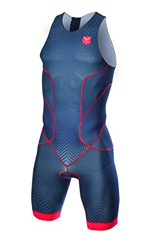 TAYMORY Performance T150 Singe de triathlon, homme, bleu, S