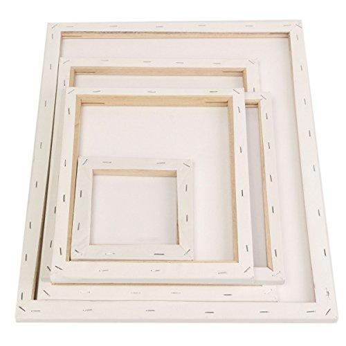 Inovey Weiße Leere Quadratische Leinwand-Malerei-Reißbreit-Holz-Rahmen Für...