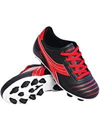 Diadora Kid's Cattura MD JR Soccer Cleats (4. 5 M US Big Kid, Black/Red)