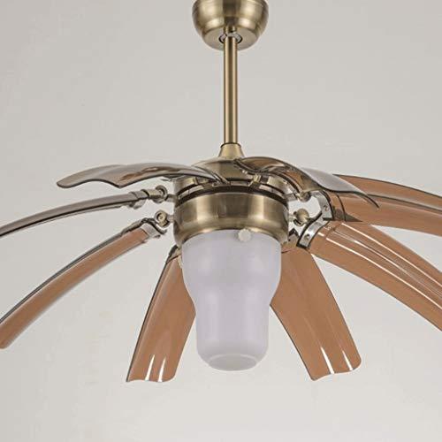 XHJJDJ Moderne Deckenventilator Fernbedienung Moderne Fly Unsichtbar 8 Blatt Fan Licht Dekorative Wohnzimmer Restaurant Kronleuchter 42 Zoll (110 V-240 V) (Farbe : Style A) -