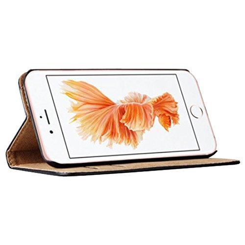 eximmobile–Book Case per Apple Iphone con carta di credito in Apple iPhone Cellulare |schutzhuelle in pelle PU | Cellulare tasche come Flip Case Cover, Custodia di protezione | alta qualità PU Porta Rosa