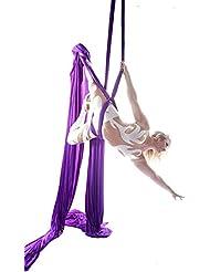 10 Meter Yoga DIY Équipement Aerial Silks Yoga Anti-gravité Hamac-Yoga Équipements de Danse Aérienne Yoga Balançoire Tissu Stretch Durable Seuls les tissus sans accessoires