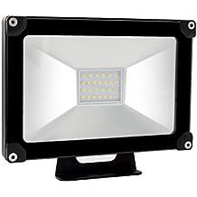 ALOTOA® 20W Foco proyector LED para exteriores, Blanco cálido 3000K,2000lm, resistente al agua IP65, luz amplia, luz de seguridad Bajo Consumo de Energía y Alto Brillo Larga Vida …