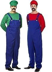 Idea Regalo - Uomo Coppia Adulto Super Mario E Luigi Idraulico 80s Videogames Film TV Vestito Da Festa Costumi Outfit