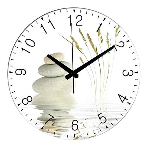 Runde Wanduhr/stille Wanduhr, Digitale Art-Deco-Uhr für Zuhause, geeignet für Wohnzimmer, Schlafzimmer, Küche, Esszimmer