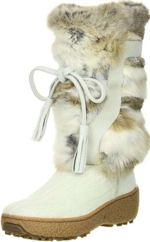 OSCAR Sport Damen Fellstiefel Snowboots weiß, Größe:38;Farbe:Weiß