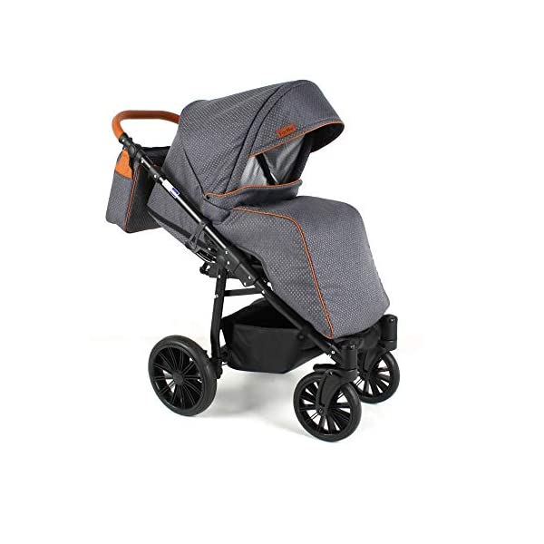 Travel System Stroller Pram Pushchair 2in1 3in1 Set Isofix Fort by SaintBaby Sand for-2 4in1 car seat +Isofix SaintBaby 3in1 , 2in1 or 4in1 selectable with isofix. With 3in1 you get the car seat (baby seat) in addition. With 4in1 you get both the infant carrier with Isofix mount and an Isofix base for your car. Of course, each set includes the infant carrier (classic stroller) and the buggy attachment (sports seat). The free accessories are also included in each set (changing bag, mosquito net and rain hood). Of course the car complies with the EU safety standard EN1888. During the production as well as before shipping, each car is carefully checked, so that you can be sure to have one of the best cars. Saintbaby stands for all-round carefree packages, so you also get a changing bag in the colour of the car, as well as rain and insect protection free of charge. With all the colours of this pram you will find the pram of your dreams. 5