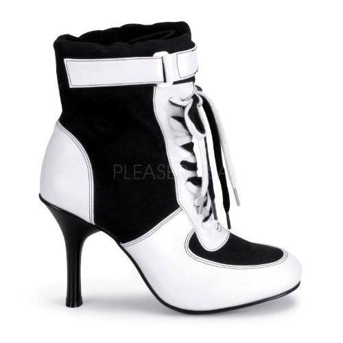 Funtasma High Heel Turnschuh Classic Sneaker REFEREE-125 Sporty Air Schwarz Weiß, Größe F:9 US / 39