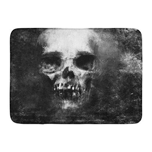 ghkfgkfgk Doormats Bath Rugs Outdoor/Indoor Door Mat Face Scary Skull Halloween Metal Death Pattern Devil Monster Bathroom Decor Rug 23.6 x 15.7 Inch (Monster High Halloween-party-ideen)