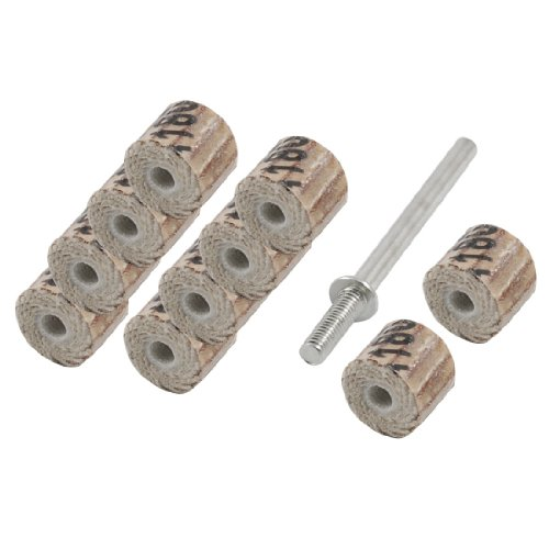 10 Stücke 180 Grit 8x8x3mm MetallschaftBohrer Flap Rad für Schleifwerkzeuge de