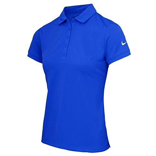 Nike Victory - Polo Tinta Unita a Manica Corta - Donna Blu College