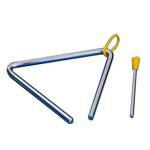 Demarkt Musik Triangel aus Stahl für Schule Kinder Früherziehung mit Schlägel 4 Zoll (Silberfarbe 1 Stück)