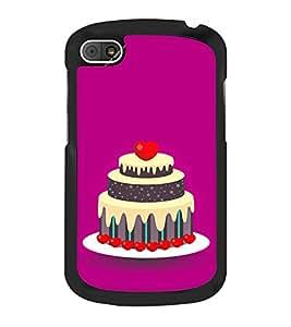 Cake Clipart 2D Hard Polycarbonate Designer Back Case Cover for BlackBerry Q10