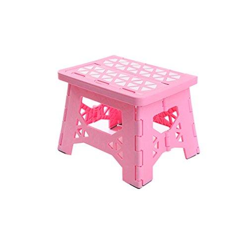XUEYAN XY_19 Portable Mazar, Klapphocker, Bad Hocker, Outdoor-Angeln Hocker (Farbe : Pink)