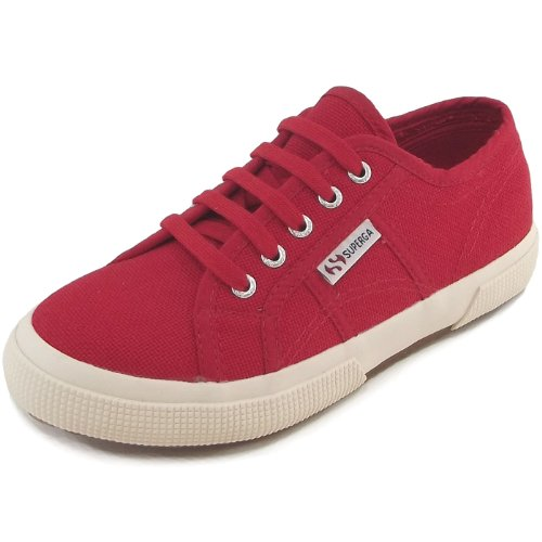 Superga 2750 Junior Cotu Classic, Baskets mode mixte enfant rouge (red)