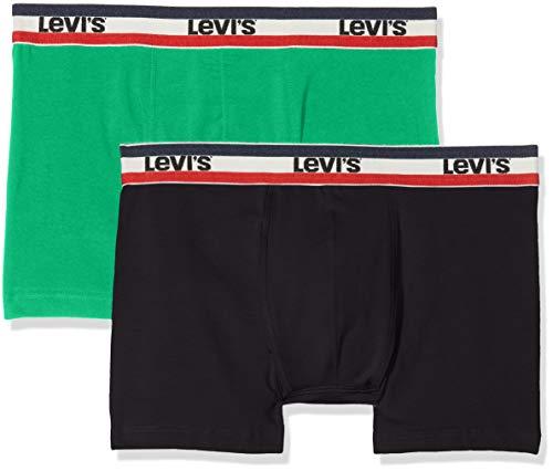 Levi's Levis 200sf Sprtswr Logo Color Boxer Brief 2p, Multicolor (Island Green 506), Large (Pack de 2 para Hombre