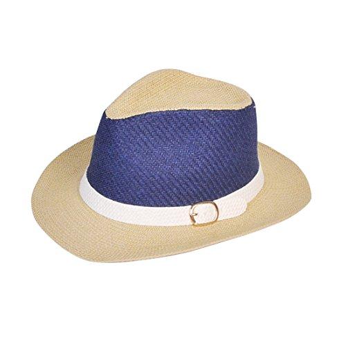 CHH Hat Sommer ist die Traufe des schattigen Männer Cowboy Strohhut der C (Tie Mann Classic Dye)