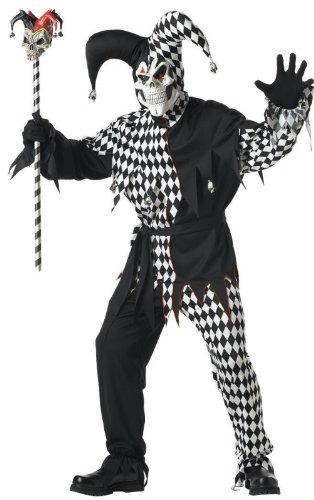 California Costumes Halloween Clownkostüm für Herren Schwarz -