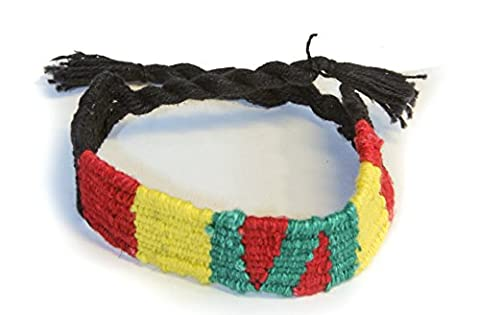 Dark hand woven 100% cotton thick wristbands, set of 4 assorted styles - Fair trade from Ecuador