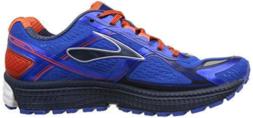 Brooks Ghost 8 M Scarpe da Corsa, Uomo Multicolore (Electric Brooks/Spicy Orange/Dress Blue)