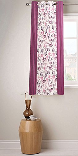 Fabutex Beautiful Printed Wine Polyester 4 x 5 Feet Designer Window Curtain Pack of 1  available at amazon for Rs.199