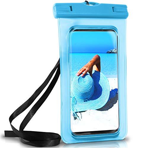 ONEFLOW Wasserdichte Hülle Samsung Galaxy | Full Cover in Blau 360° Unterwasser-Gehäuse Touch Schutzhülle Handy-Hülle für Galaxy S9 S9 Plus S8 Plus S7 Edge S6 S5 Mini UVM Case Handy-Schutz