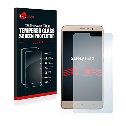 Savvies–Film Glas-Kugeln Xiaomi Redmi Note 3Schutzfolie aus Glas Pro Film Blindada–Gehärtetes Glas 9H (Dicken Transparenz-film)
