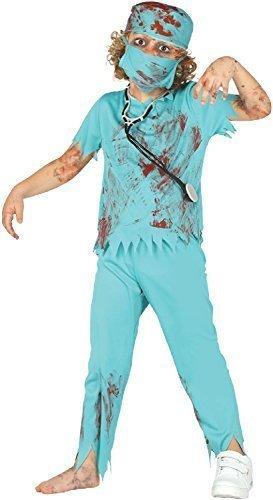Fancy Me Mädchen Jungen Zombie Blutiges Chirurg Uniform Scrubs Rettungsdienste Halloween Horror Kostüm Kleid Outfit 5-12 Jahre - 10-12 Years