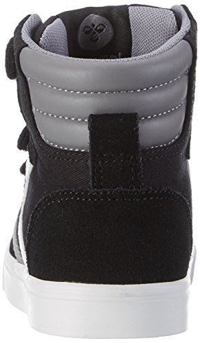 Hummel Stadil Canvas, Sneakers Hautes Mixte Enfant Noir (Black)