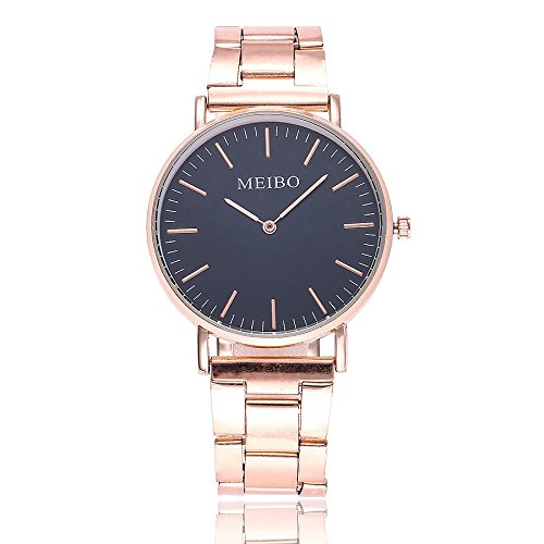 Förderung! LEEDY Classic Damen Armbanduhren Silber Gold Edelstahl Mode Armbanduhr Analog Quarz Wrist Watch Prince Black Jacke