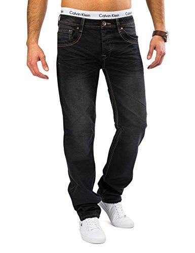 Hommes Raw Denim Jeans gris foncé DEVIN Nr.1620 Regular Fit (jambe droite) Dunkelgrau