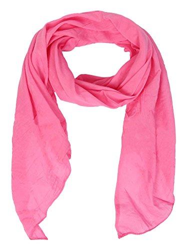 Cashmere Dreams Seiden-Tuch im Uni Design - Hochwertiger Schal für Damen Mädchen - Halstuch - Umschlagstuch - Loop - weicher Schlauchschal für Sommer Herbst und Winter Zwillingsherz - pink - Rosa Seide Strickjacke