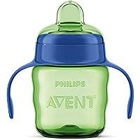 Philips Avent SCF551/05 - Vaso con boquilla de silicona para niño, válvula antigoteo, sin BPA, para 6 meses, 200 ml, color verde