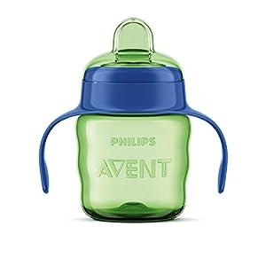 vasos con boquilla: Philips Avent SCF551/05 - Vaso con boquilla de silicona para niño, válvula antig...