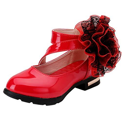 Jaysis Kleinkind Blume Lederschuhe Single Prinzessin Sandalen Mädchen Schuhe Kommunionschuh Kinderschuhe Mädchen Schuhe Outdoor Prinzessin Schuhe Festliche Schuhe Lackschuhe Blumen Kinderschuhe