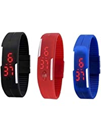 ROKCY Rubber Led S3 Digital Watch - For Men & Women (Bl,Bu,R)