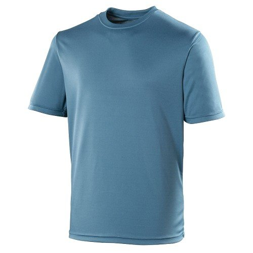 Just Cool - Camiseta deportiva transpirable tecnología Neoteric? de manga corta para hombre - Running/Gym/Deporte - Variedad 30 colores (4XL/Azul marino)