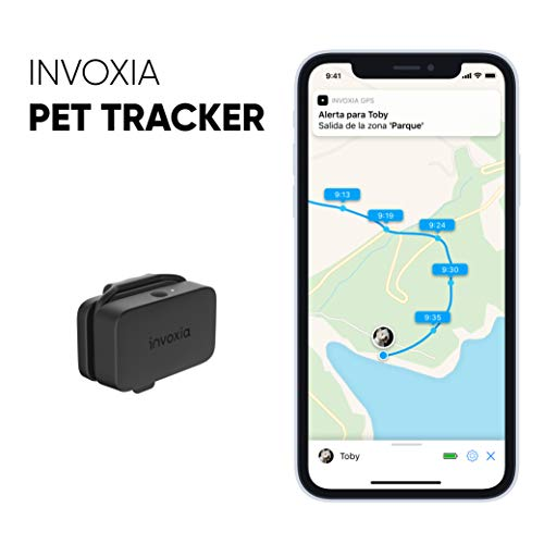 invoxia Pet Tracker - GPS-Tracker für Katzen und Hunde - einschließlich ABO - Lange Akkulaufzeit - leicht und klein