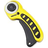 PRETEX Rollschneider mit Schutzmechanismus und Ersatzklinge | 2 Jahre Zufriedenheitsgarantie | Rollmesser, Stoffschneider