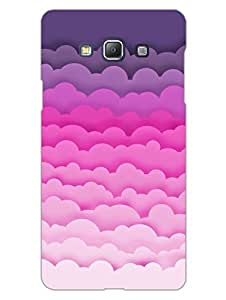 Samsung A5 2015 Back Cover - Pink Color Clouds - So Girly - Hard Shell Back Case